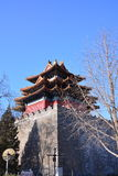 Beijing the Imperial Palace watchtower Stock Photography