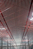 Beijing International Airport. Ceiling and Roof Structure of Beijing Airport ceiling Stock Image