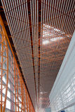 Beijing International Airport. Ceiling and Roof Structure of Beijing Airport ceiling Royalty Free Stock Photo
