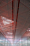 Beijing International Airport. Ceiling structure of new terminal at Beijing International Airport Royalty Free Stock Photo