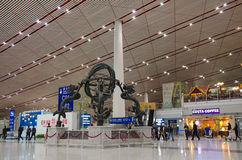 Beijing International airport Royalty Free Stock Photos
