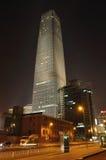 Beijing International Trade Building Night scene Stock Photography