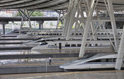 Beijing järnväg station, snabb ââRail Royaltyfria Foton