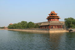 Beijing Jiaolou tower and river Royalty Free Stock Photography