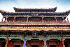 Beijing Lama Temple ancient architecture Royalty Free Stock Images