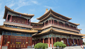 Beijing, Lama temple. Beautiful view of the Lama temple in Beijing, China Stock Photos
