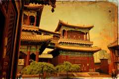 Beijing, Lama temple Royalty Free Stock Images