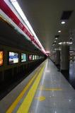 beijing linia jeden metra ruch drogowy Obraz Royalty Free