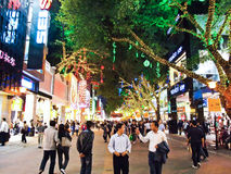 Beijing Lu is one of Guangzhou's main shopping Royalty Free Stock Photography
