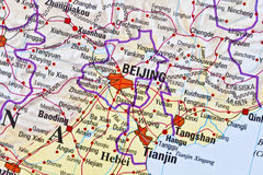 Beijing map Royalty Free Stock Photos
