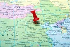 beijing mapa Fotografia Stock