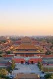 beijing miasta półmrok zakazujący zdjęcie royalty free