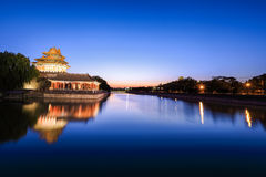 Beijing moat in nightfall Stock Images