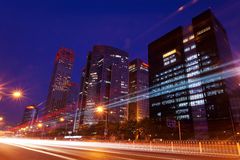 Beijing Modern Architecture. Beijing Modern Urban Landscape Architecture at night royalty free stock photo