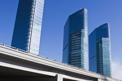 Beijing: Modern Buildings And Elevated Road Royalty Free Stock Images