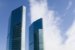 Beijing: modern glass buildings. Two modern glass buildings in the central business district in beijing, china Stock Image
