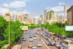 Free Beijing, Modern Office And Residential Buildings On The Streets Of Beijing, Transport And Ordinary Urban Life Of The Big  City. Stock Image - 57126401