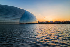 Beijing National Centre for the Performing Arts, at sunset. China Stock Photo
