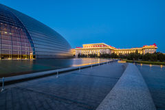 Beijing National Centre for the Performing Arts, at sunset. China Royalty Free Stock Photography