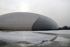 Beijing National Grand Theatre. Winter 2010 Royalty Free Stock Photos