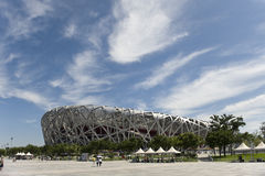 The Beijing National Olympic Stadium. The Beijing National Stadium also known as the Bird's Nest due to it's architecture, in Beijing China. The stadium hosted Royalty Free Stock Images