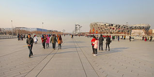 Beijing National Olympic Stadium /Bird s Nest Royalty Free Stock Photo