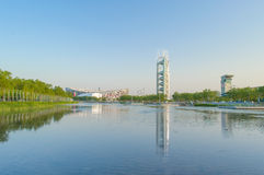 Beijing National Olympic Stadium Scenery Royalty Free Stock Photo