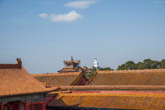 Beijing National Palace Museum roof eaves Royalty Free Stock Images