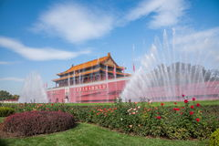 Beijing National Palace Museum Tiananmen front fountain Stock Image