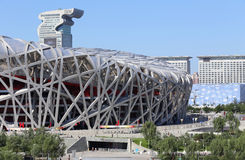 Beijing National Stadium , Pangu plaza Royalty Free Stock Photo