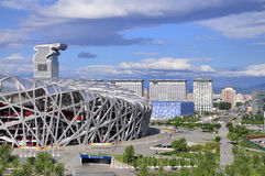 Beijing National Stadium , Pangu plaza,cloud Royalty Free Stock Photography