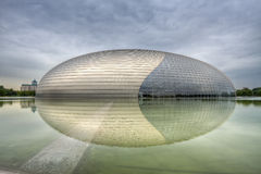 Beijing National Theater. National Centre for the Performing Arts, Beijing, China. Theater designed by Paul Andreu and opened in December 2007, it is known as Royalty Free Stock Image