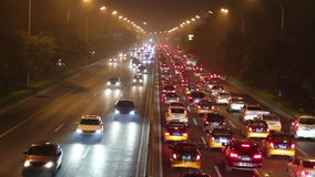 Beijing 2nd rind road at night HD. stock footage