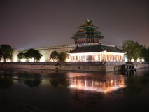 Beijing @ night. Forbidden city china Stock Photo
