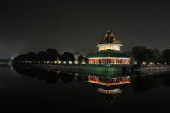 Beijing  night. Beijing night views,a peaceful night clear and unforgetable,oriental night scenes Royalty Free Stock Images