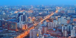 Beijing at night royalty free stock photos