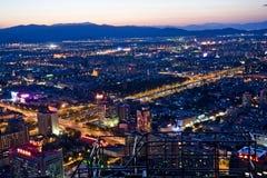 Beijing night scene Royalty Free Stock Photos