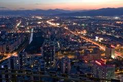 Beijing night scene Stock Image