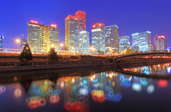 Beijing night scenery Royalty Free Stock Photo