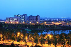 Beijing night scenery Stock Photos