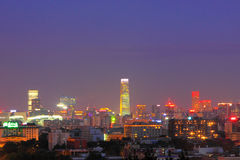 Beijing night scenery Royalty Free Stock Photos