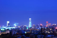 Beijing night scenery. TV tower panoramic view of Beijing construction Royalty Free Stock Images