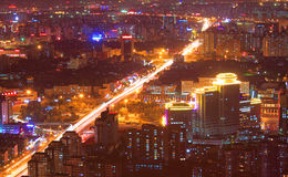 Beijing night scenery Stock Image