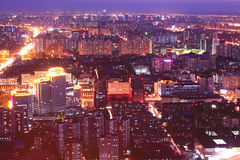 Beijing night scenery Royalty Free Stock Image