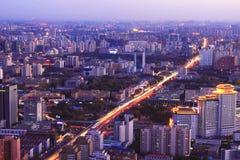 Beijing night scenery Stock Photo