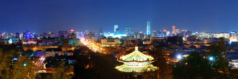 Beijing at night Stock Photos