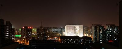 Beijing night. Night view of the city rings at Beijing, China Royalty Free Stock Photos