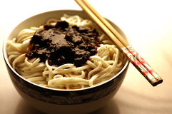 Beijing noodles. This is bow of special source beijing noodles Royalty Free Stock Photo