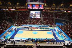 Beijing Olympic Basket Ball Arena Put Into Service Stock Images