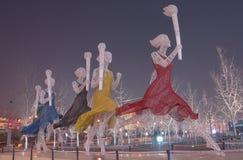 beijing olympic fackla Fotografering för Bildbyråer